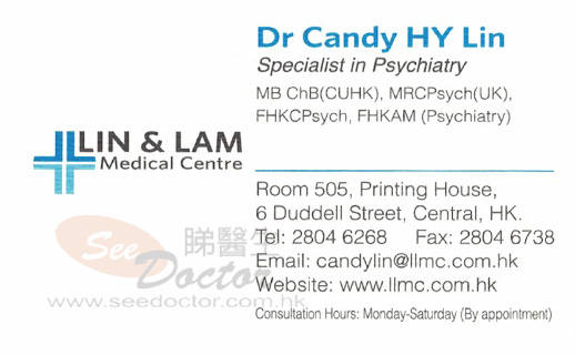 Dr LIN HOI YUN CANDY Name Card
