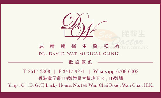 Dr Wat Ching Pang Name Card