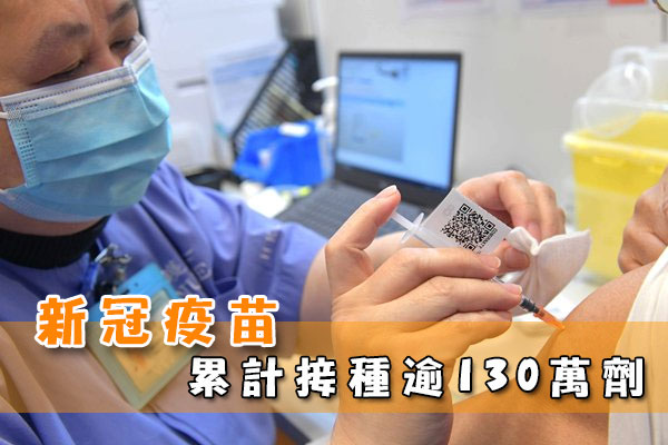 新冠疫苗累計接種逾130萬劑
